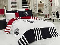 Комплект постельного белья из перкаля евро U. S. Polo Assn CHUKKER