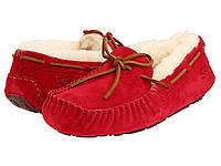 Женские мокасины UGG Dakota красные