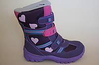 Детские зимние ботинки ( термообувь ) для девочки ( фиолетовый ) ХТВ размеры 31-36
