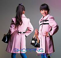 Красивое кашемировое пальто для девочки 3 цвета