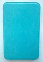 "[ Samsung Galaxy Tab 2 7"" Р3110 Р6200 ] Кожаный чехол-книжка для планшета Самсунг голубой"