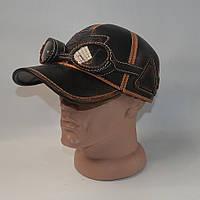 Кожаная кепка для байкера