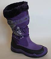 Детские зимние термо сапоги для девочки ХТВ ( черный белый фиолетовый бордовый ) размеры 31-36