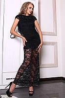 Романтичное длинное платье с открытой спиной Гипюр
