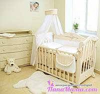 Комплект постельного в детскую кроватку Twins Romantik Горошки