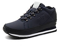 Кросcовки зимние New Balance мужские синие нубук мех шнурок, фото 1