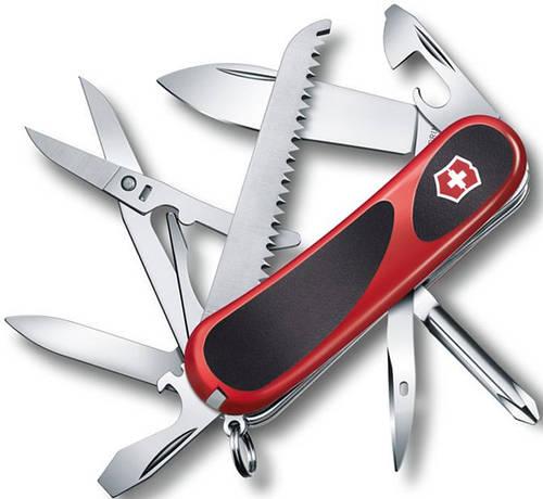 Швейцарский складной нож Victorinox EvoGrip 18, 24913.C красный