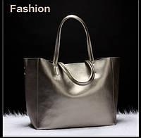 Молодежная кожаная Dusun. Сумка-шоппер. Стильная сумка. Женская сумка. Интернет магазин. Кожа. Код: КЕ92