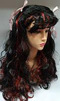 Карнавальный парик Черный с мелированием