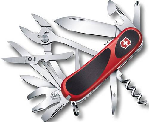 Офицерский оригинальный складной нож Victorinox EvoGrip S557 25223.SC красный