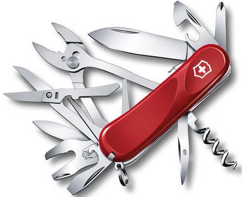 Офицерский качественный складной нож Victorinox Evolution S557, 25223.SE красный