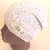 Белоснежная осенняя шапочка для маленькой феи