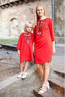 """Набор платьев """"Мать + дочка"""" в красном"""