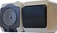 Блок - 1 розетка + 1 выключатель (1шт. роз. 2Р+PE + 1 шт. одноклав. выкл.)  2РЗ16-З-ВЗ-1-IP44N