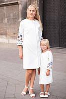 """Набор белых пальто """"Мать + дочка"""""""