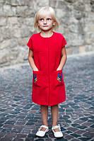 Пальто для девочки с  коротким рукавом