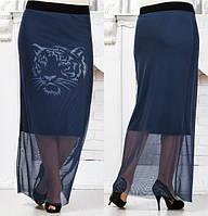 Длинная юбка в пол  с принтом. Тренд сезона. код 170 Б