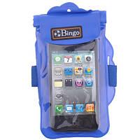 """Водонепроницаемый чехол для телефонов до 4"""" Blue (Bingo wp062)"""