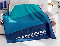 Мягкий плед из хлопка U. S. POLO ASSN OMAK 150х200