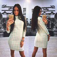 Женское модное платье из твида
