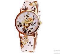 """Стильные часы женские с цветочным принтом """"Осеннее настроение"""""""