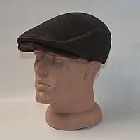 Крутая кожаная кепка темно коричнево цвета
