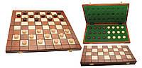 Игровые шашки из дерева