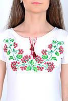 Традиционная женская футболка вышиванка калина