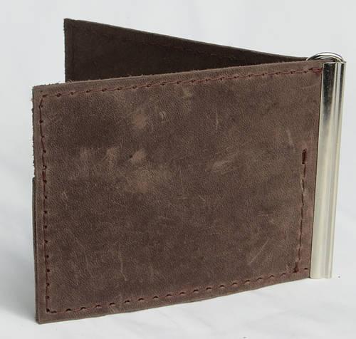 Кожаный зажим для купюр ручной работы Vladymir Pankratov VP200135 коричневый