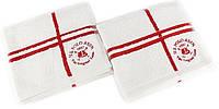 Набор махровых полотенец 50х90 U. S. POLO ASSN ROSWELL белый/красный