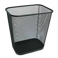 Урна для мусора офисная, прямоуг., 300*215*310 мм, металл, черная