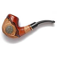 """Инкрустированная трубка для курения из груши """"Якорь"""""""