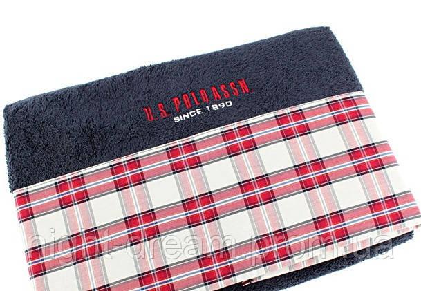 Махровое полотенце 70х150 U. S. POLO ASSN SALEM синее