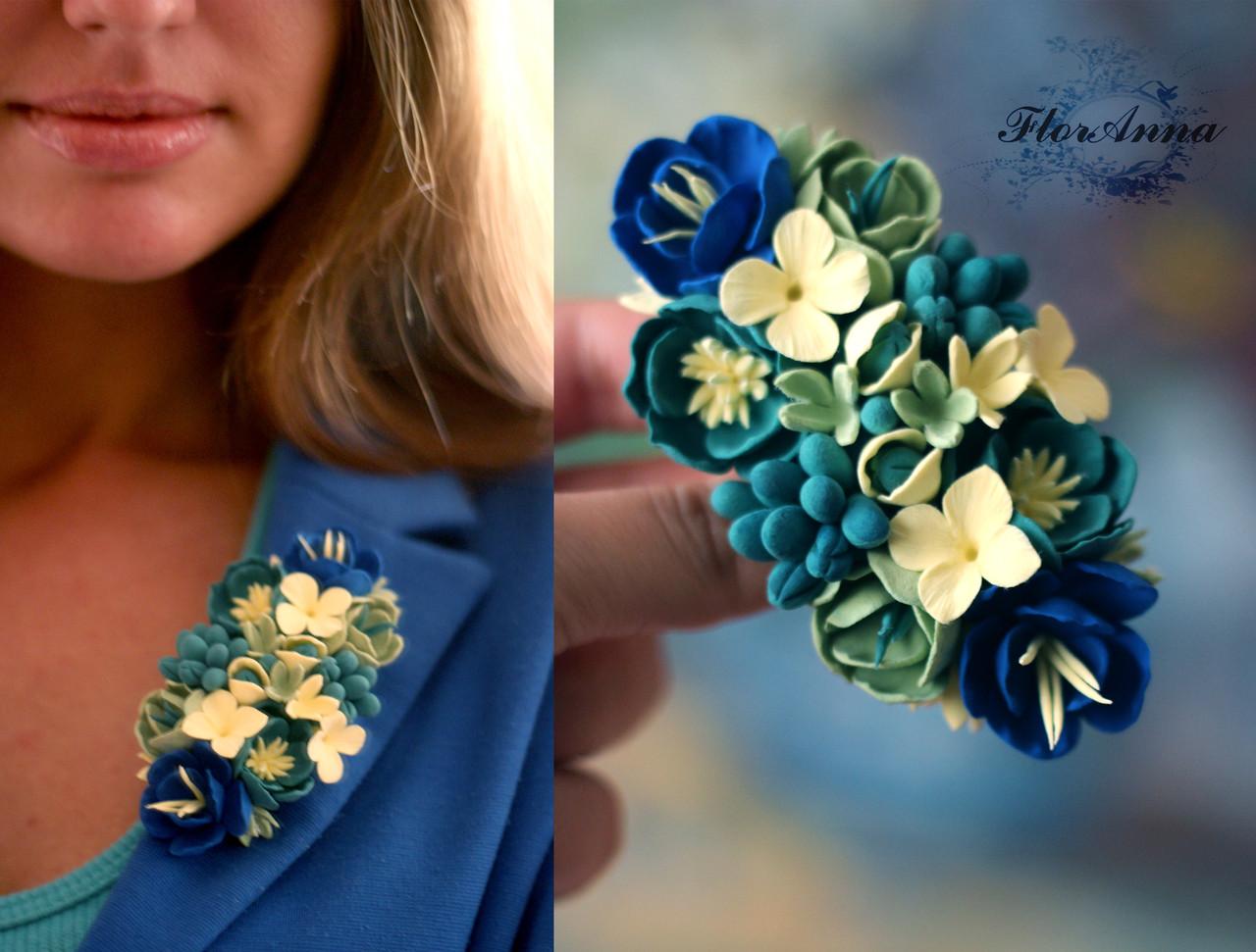 Как сделать броши цветы из ткани своими  742