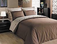 Однотонное постельное бельё Cotton Box Fashion KAHVE