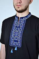 Отличная мужская футболка с вышивкой в этническом стиле