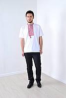 Стильная мужская футболка вышиванка в украиснком стиле с надписью СЛАВА УКРАИНЕ