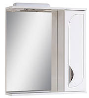Зеркало для ванной комнаты 65-01 правое с декором