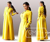 Платье женское жёлтое в пол  SD/-874