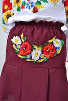 Красивая вышитая юбка для девочки в украинском стиле