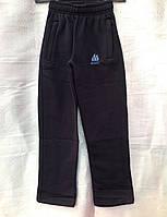 Синие спортивные штаны для мальчиков теплые на байке