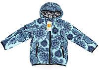 Модная утепленная куртка мята 5-6 лет.