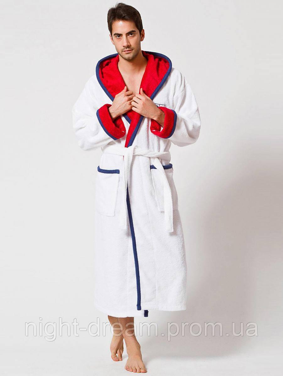 Махровый халат с капюшоном U. S. POLO ASSN SANTA FE   XS/S