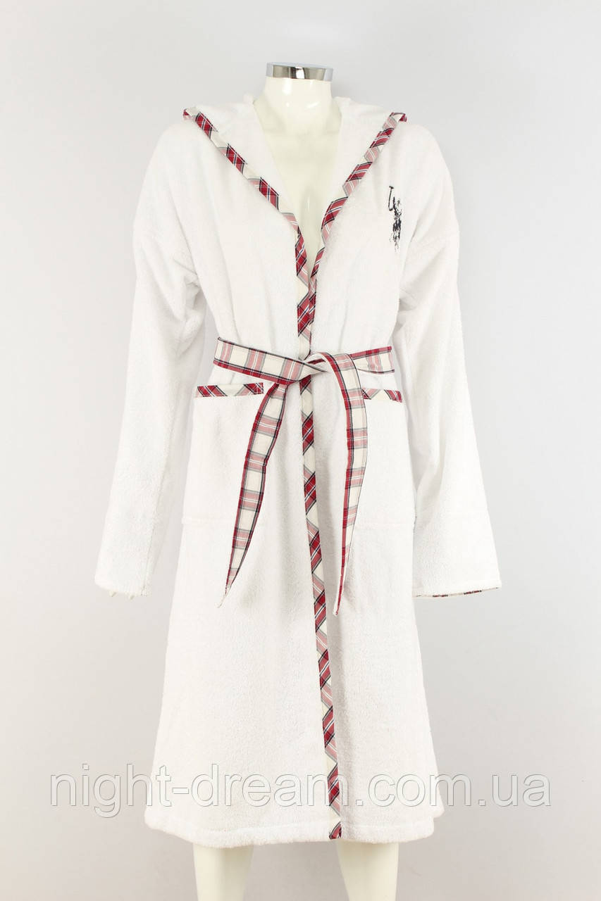 Махровый халат с капюшоном U. S. POLO ASSN ARCATA размер L