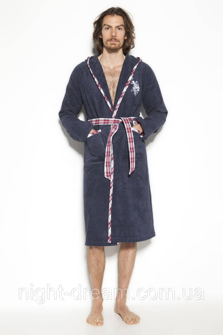 Махровый халат с капюшоном U. S. POLO ASSN ARCATA размер M