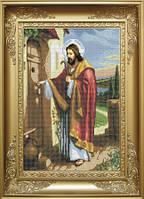 Схема для вишивки бісером Ісус стукає в двері. Арт. КРВ-1