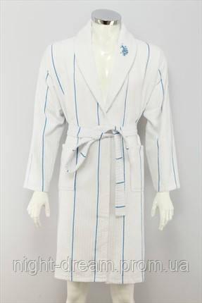 Махровый халат  U. S. POLO ASSN  CASPER S/M