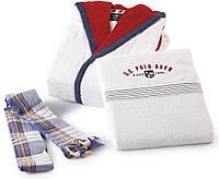 Набор махровый халат + 3шт. полотенец U. S. POLO ASSN  NEBRASKA S/M