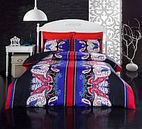 Набор постельного белья сатин печатный 200х220 Cotton box YAGMUR KIRMIZI