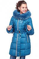 Теплая зимняя детская куртка с карманами